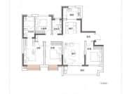 D户型,4室2厅2卫,142平米